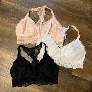 Lace Bralette (Set of 3)